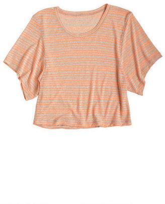Delia's Thin Neon Stripe Short Sleeve