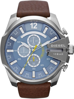 Diesel Mega Chief Chronograph, Blue/Silver