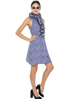 Marni Ruffled Printed Crepe De Chine Dress