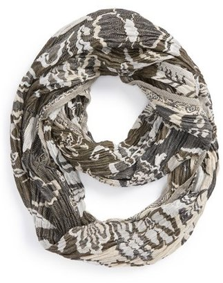 Chelsey by Joseph Floral Stripe Infinity Scarf