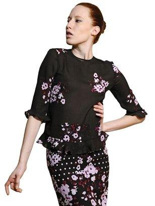Erdem Printed Silk Creponne Shirt