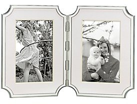 Kate Spade Sullivan Street Hinged Double Silverplated Frame, 4 x 6
