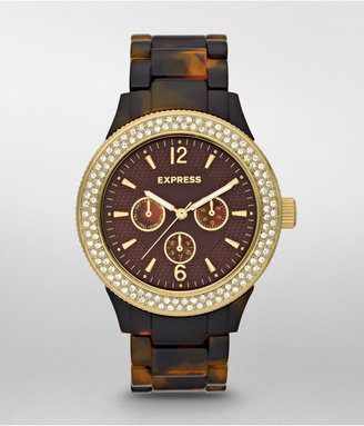 Express Multi-Function Bracelet Watch - Tortoise