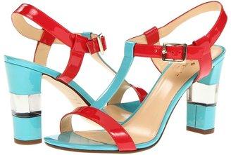 Kate Spade Illaria (Iceberg Blue Patent/ Maraschino Red Patent) - Footwear
