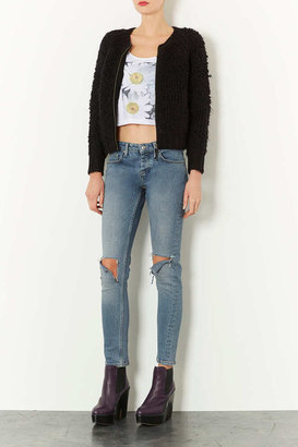 Topshop Knitted Loopy Stitch Bomber