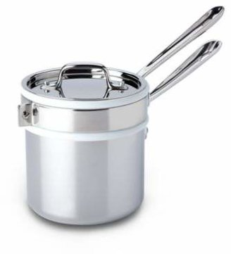 All-Clad Stainless Steel 2-Quart Saucepan with Double Boiler & Lid