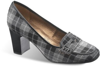 Hush Puppies Soft style by brynn wide plaid dress heels - women