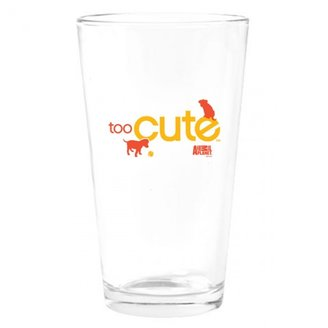 Discovery Too Cute Orange Puppies Drinking Glass