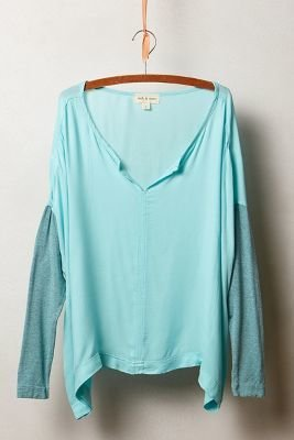Anthropologie Cloth & Stone Aimee Poncho Tee