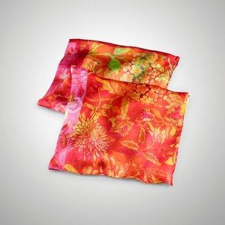 Ralph Lauren Floral Patchwork Chiffon Scarf