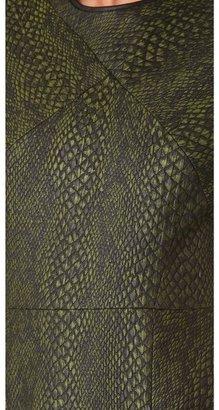 Tibi Cobra Jacquard Seamed Dress