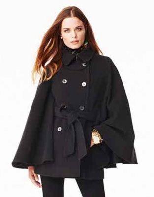 MICHAEL Michael Kors Double-Breasted Cape Coat