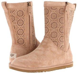 UGG Lo Pro Short Perf (Fawn Suede) - Footwear