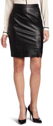 DKNY DKNYC Women's Pencil Skirt with Front Zipper
