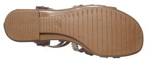 Easy Spirit 'e360 - Karelly' Pinked & Perforated Leather Back Zip Sandal (Women)