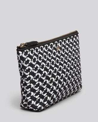 Diane von Furstenberg Cosmetic Case - Quilted Nylon Small
