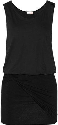 LnA Rum cotton-blend jersey dress