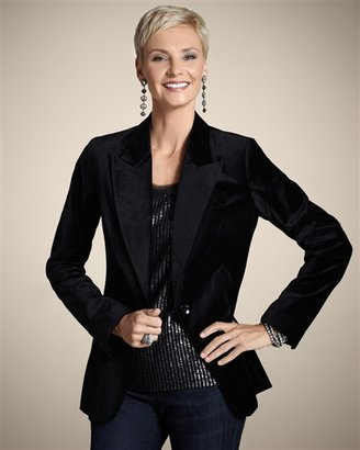 Chico's Luxurious Velvet Pattington Jacket