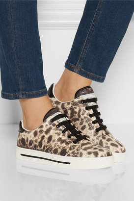 Marc by Marc Jacobs Leopard-print snake-effect leather sneakers