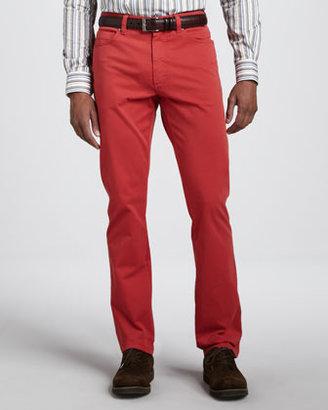 Ermenegildo Zegna Five-Pocket Pants, Sport Red