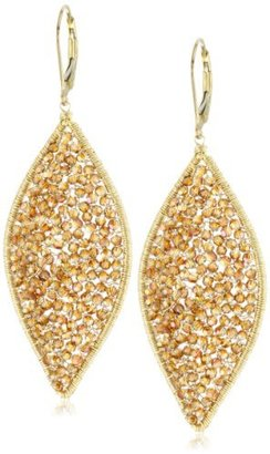 Dana Kellin Feminine Crystal Copper Mosaic Earrings