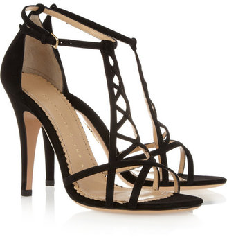 Charlotte Olympia Marianne suede sandals