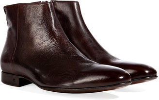 Paul Smith Shoes Leather Fury Ankle Boots in Moro