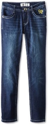 Southpole Girls 7-16 Embroidered And Rhinestone Skinny Jean