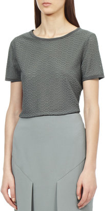 Reiss Isa LACE FRILL T-SHIRT