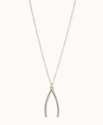 Forever 21 Wishbone Charm Necklace