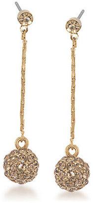Carolee Chain & Pendant Drop Earrings