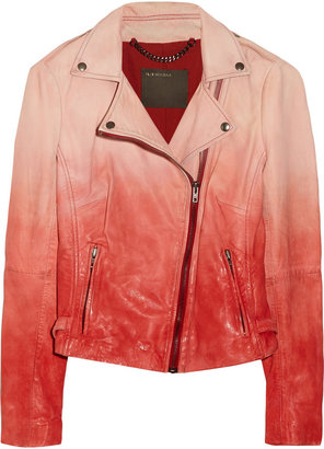 Muu Baa Muubaa Fornas ombré leather biker jacket
