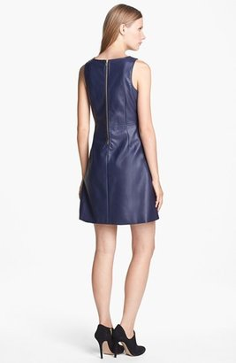 Black Swan 'Dreams' Faux Leather Sheath Dress
