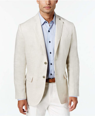 Tasso Elba Men 100% Linen 2-Button Blazer