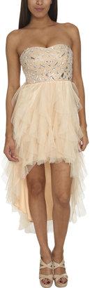 Arden B Ruffled Embellished Tulle Dress