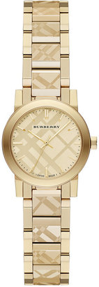 Burberry Women's Swiss Gold Ion-Plated Stainless Steel Bracelet Watch 26mm BU9234 $795 thestylecure.com
