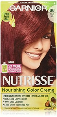 Garnier Nutrisse Nourishing Color Creme, 66 True Red (Pomegranate) (Packaging May Vary) $7.99 thestylecure.com