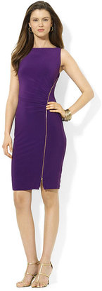 American Living Sleeveless Ruched Zippered Dress