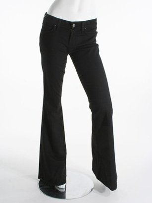 7 For All Mankind Low Rise Bell Bottom, Black Black