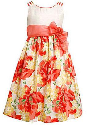 Bonnie Jean 4-6X Triple-Strap Shantung Dress