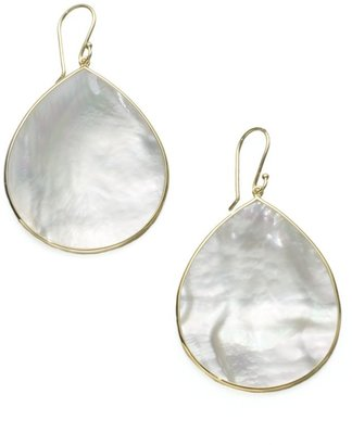 Ippolita Polished Rock Candy Jumbo 18K Yellow Gold & Mother-Of-Pearl Teardrop Earrings