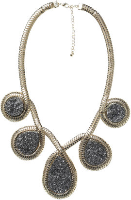Arden B Druzy Teardrop Pendant Necklace