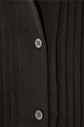 Equipment Hunter washed-silk tuxedo shirt
