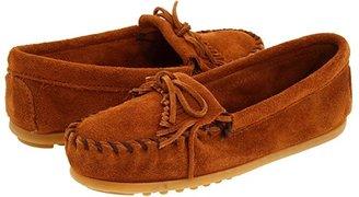 Minnetonka Kids Kilty Suede Moc (Toddler/Little Kid/Big Kid) (Brown Suede) Kids Shoes
