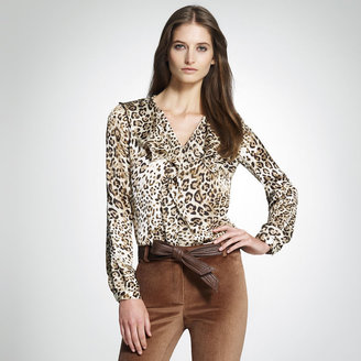 Jones New York Animal Print Blouse
