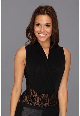 Hanky Panky Signature Lace Draped Bodysuit (Black) - Apparel