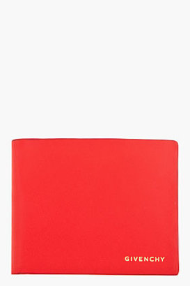 Givenchy Vivid Red gold logo bi-fold Wallet
