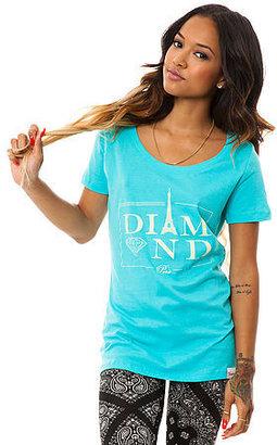 Diamond Supply Co. The Paris Scoop Neck Tee in Diamond Blue