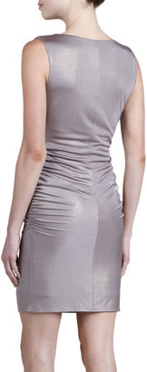 Laundry by Shelli Segal Cowl-Neck Glam Foil Dress