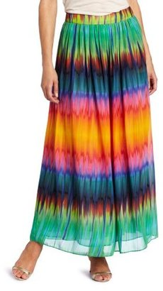 Vince Camuto Women's Mirror Rainbow Maxi Skirt
